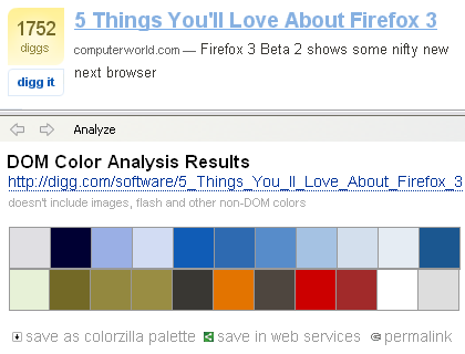 Webpage Color Analyzer