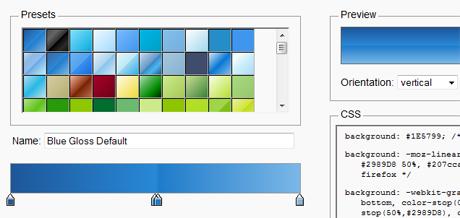 iosart blog » New color tool – Ultimate CSS Gradient Generator